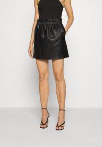 ONLY - ONLCOCO SKIRT  - Mini skirt - black - 0