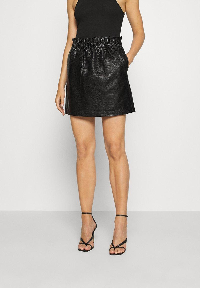 ONLY - ONLCOCO SKIRT  - Mini skirt - black