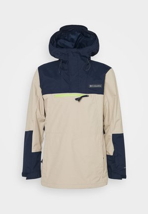 PARK RUN  ANORAK - Snowboardová bunda - ancient fossil/collegiate navy