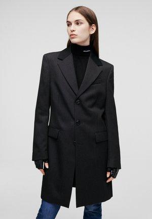 Klassischer Mantel - dark grey melange