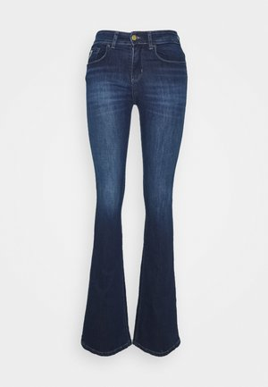 MELROSE - Flared Jeans - dark stone