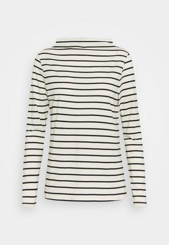 STRIPE TEE - Long sleeved top - off white