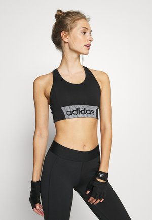 Medium support sports bra - black/white
