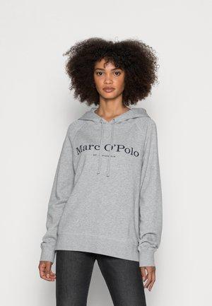 HOODED LOGO - Sweatshirt - graumelange