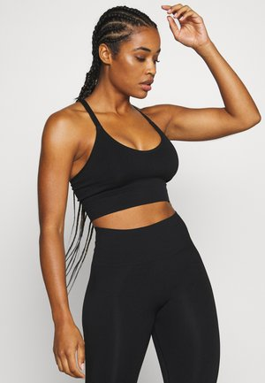CROSSBACK SEAMLESS MIDI - Top - black