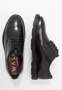 Walk London - REESE DERBY - Šněrovací boty - black - 1