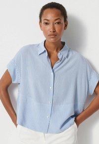 someday. - Button-down blouse - blau - 0