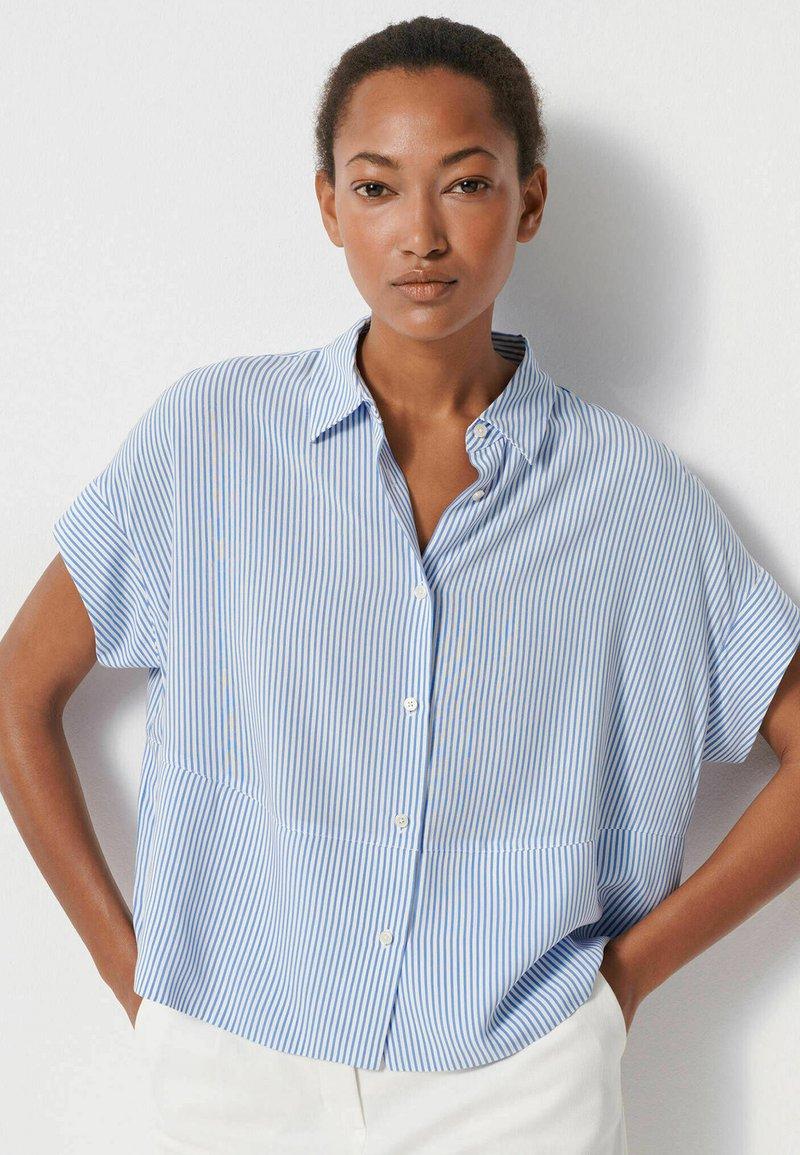 someday. - Button-down blouse - blau