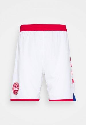 DÄNEMARK DBU 20/21 HOME SHORTS - Oblečení národního týmu - white