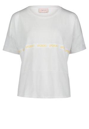 MIT ÄRMELAUFSCHLAG - Print T-shirt - weiß