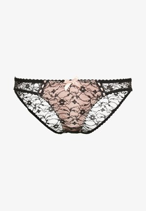 GRACELYN BRIEF - Trusser - black/babypink