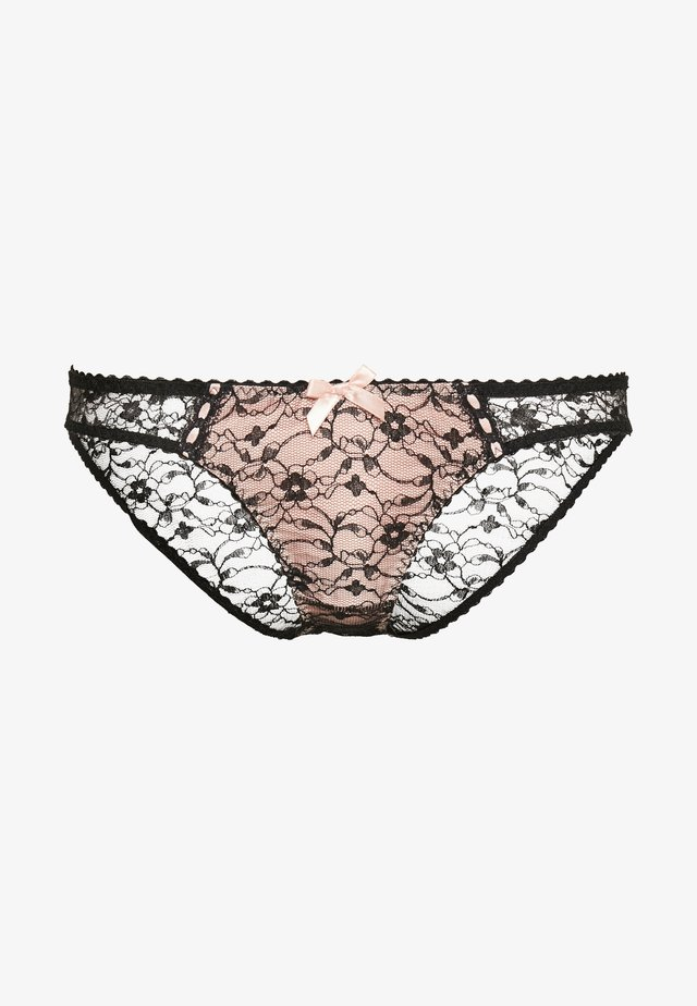 GRACELYN BRIEF - Slip - black/babypink