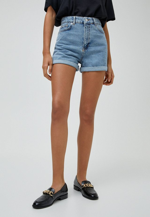 Jeans Shorts - mottled dark blue