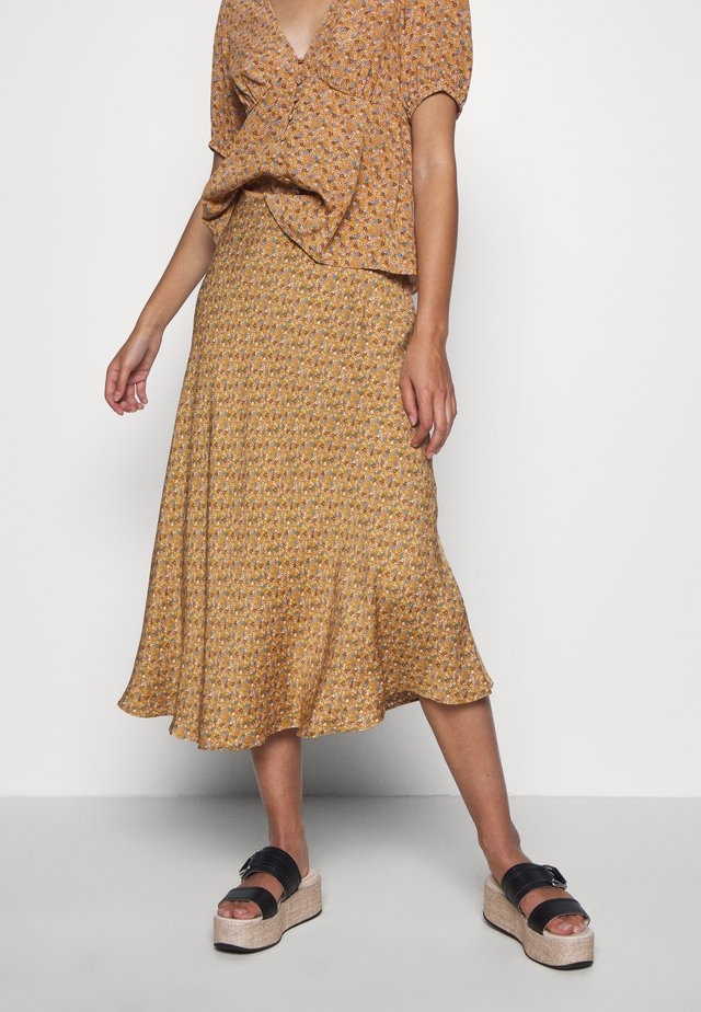 ALSOP SKIRT - Falda acampanada - brown