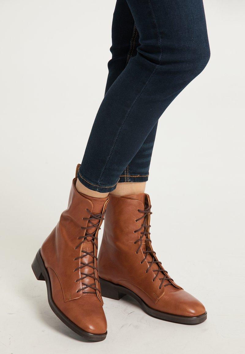 usha - Lace-up ankle boots - cognac