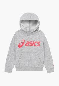 ASICS - BIG HOODIE - Jersey con capucha - mid grey heather/diva pink - 0
