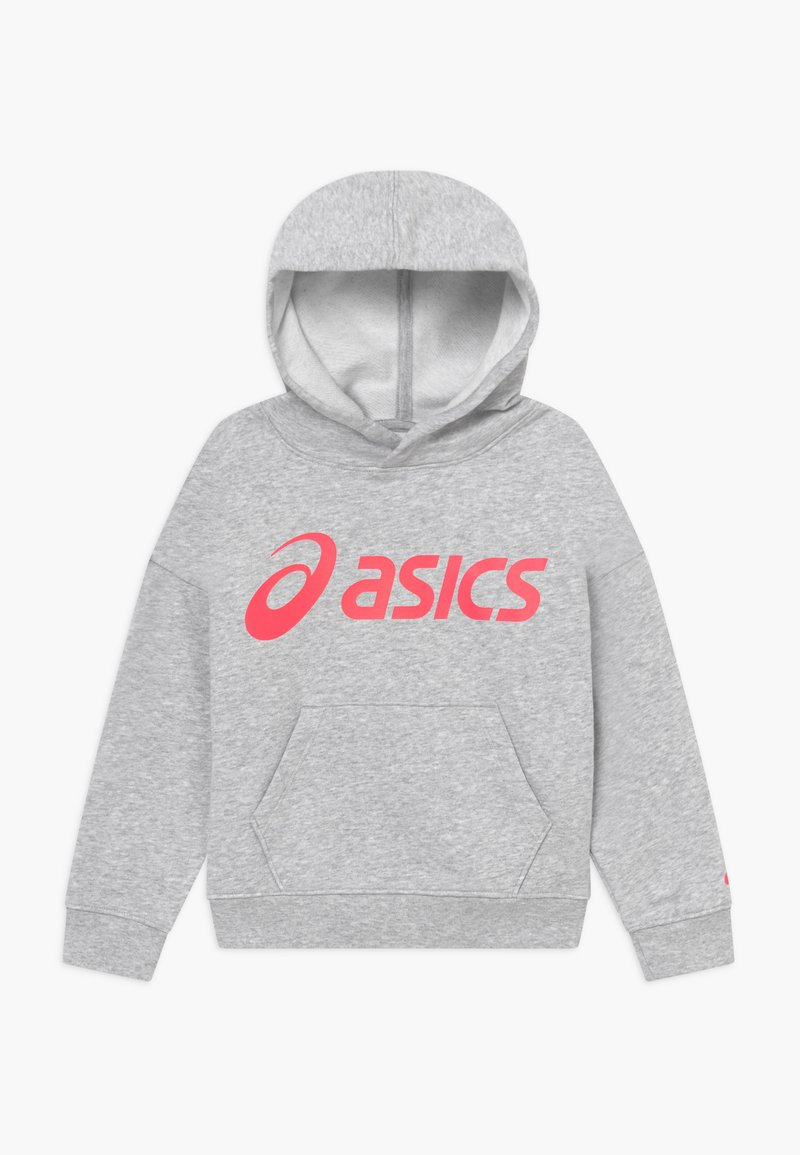 ASICS - BIG HOODIE - Jersey con capucha - mid grey heather/diva pink