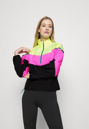 TRAIN FIRST MILE XTREME JACKET - Chaqueta de entrenamiento - fizzy yellow/luminous pink /black