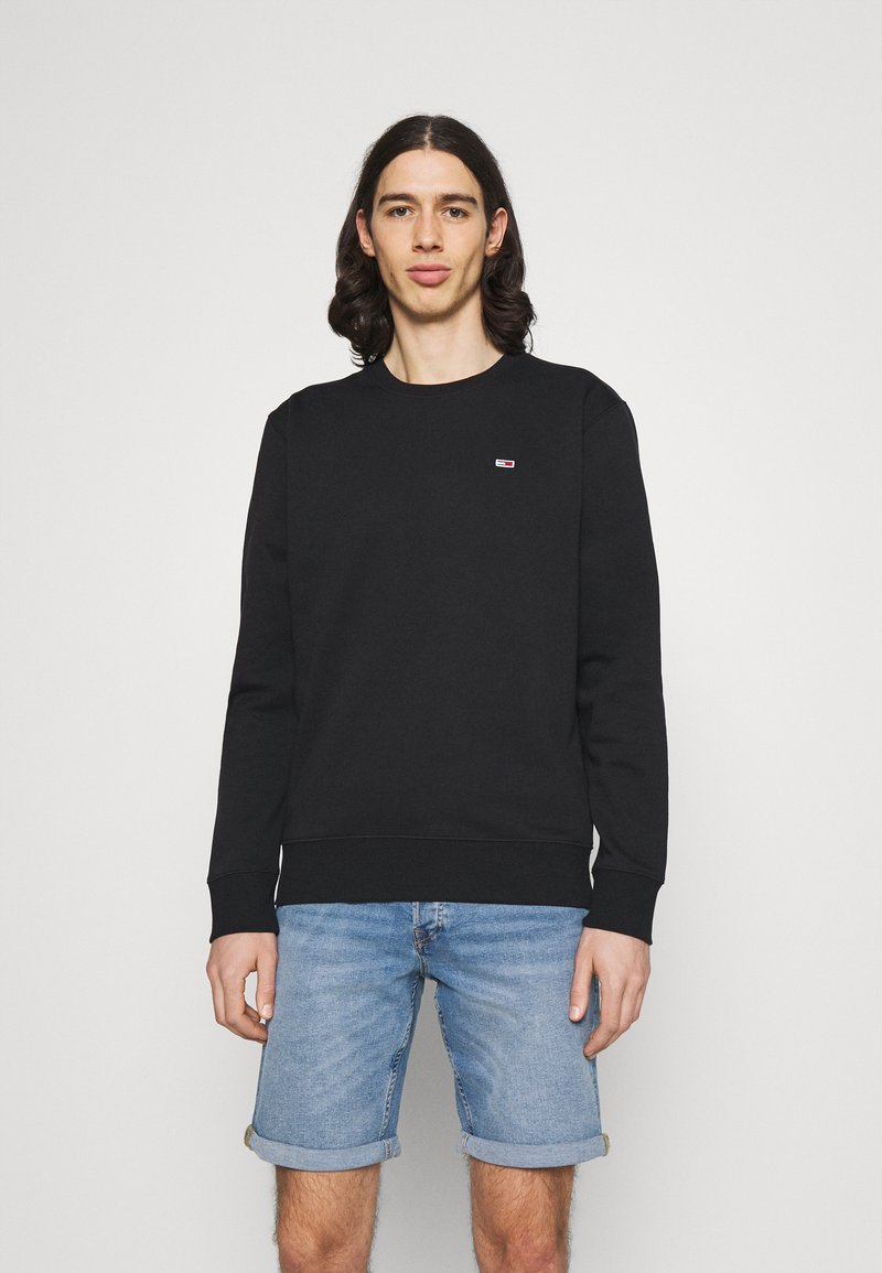 Tommy Jeans - REGULAR C NECK - Collegepaita - black