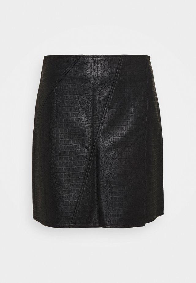 PETITES MINI SKIRT - Áčková sukně - black