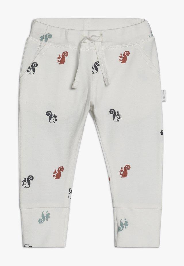 SLIM FIT PANTS - Kangashousut - whisper white