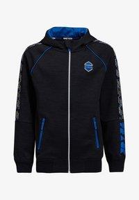 WE Fashion - MET CAPUCHON EN TAPEDETAIL - Sweatjakke /Træningstrøjer - blue - 2