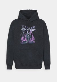 Mennace - ON THE RUN SERPENT ACID WASH REGULAR HOODIE - Sweatshirt - washed black - 4