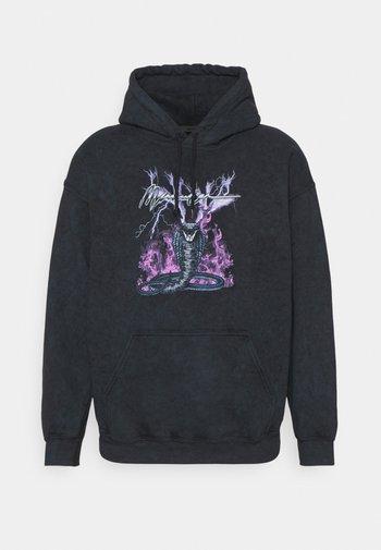 ON THE RUN SERPENT ACID WASH REGULAR HOODIE - Sweatshirt - washed black