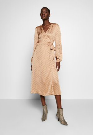 BERRI WRAP DRESS - Day dress - praline