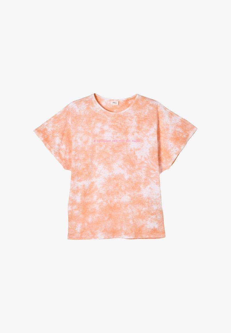 s.Oliver - Print T-shirt - apricot