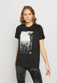 The North Face - WOMAN DAY TEE - T-Shirt print - black - 0
