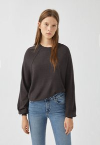 PULL&BEAR - Long sleeved top - dark grey - 0