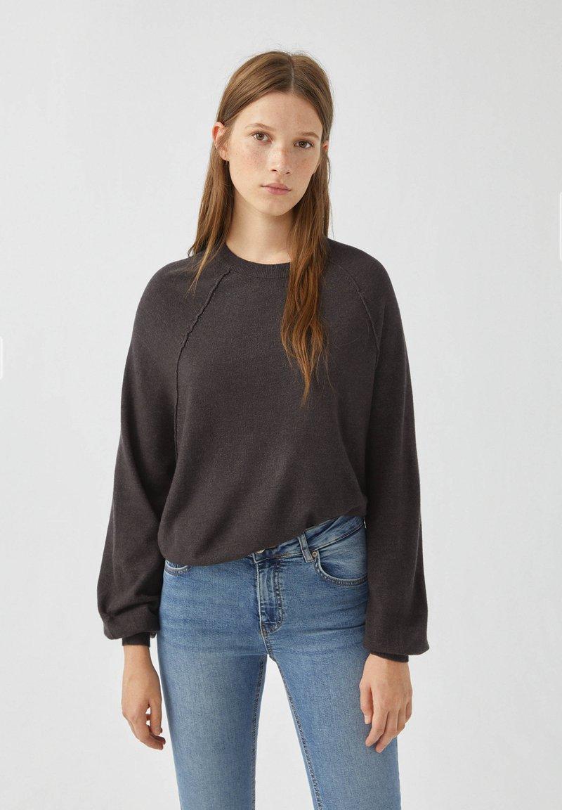 PULL&BEAR - Long sleeved top - dark grey