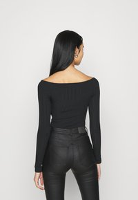 New Look - KNOT FRONT BODY - T-shirt à manches longues - black - 2