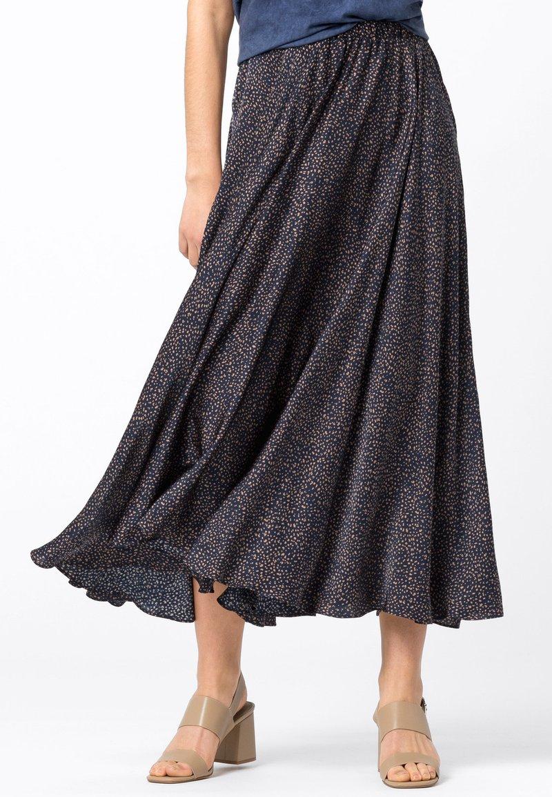HALLHUBER - Pleated skirt - indigo