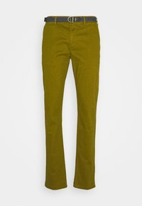Scotch & Soda - STUART PEACHED WITH GIVE AWAY BELT - Chino - military green - 4