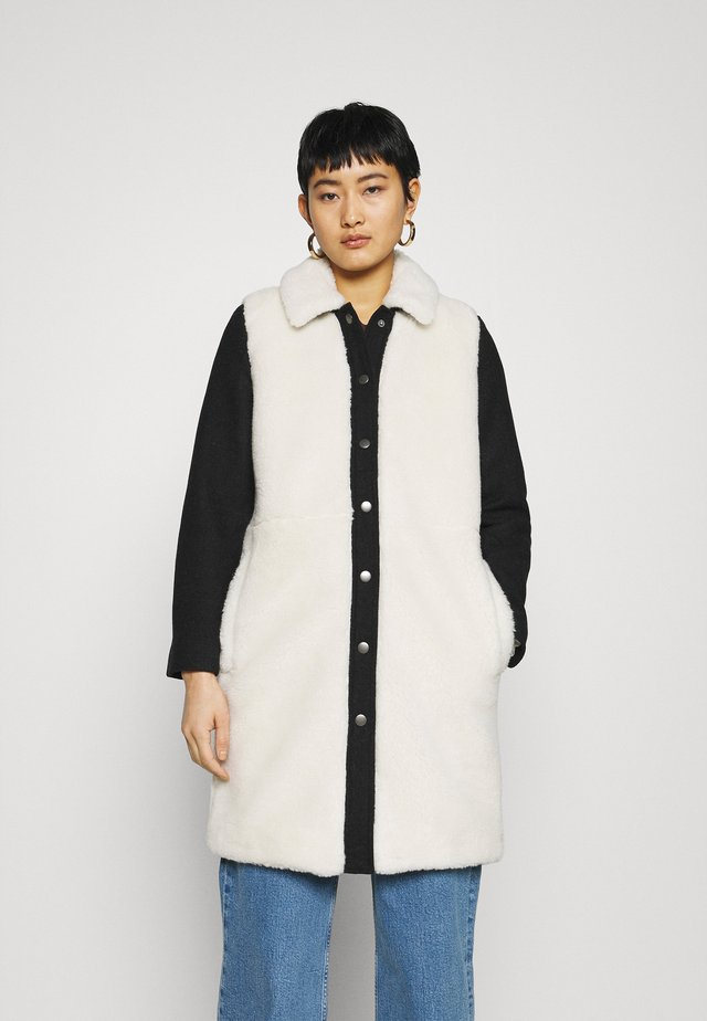 CAMDEN COAT WITH SLEEVES - Mantel - offwhite/black