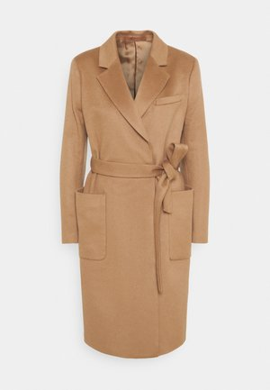 RIMINI - Classic coat - dark honey