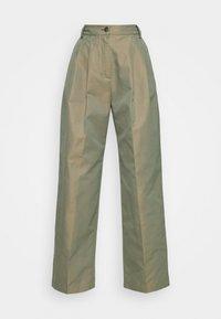 SIRID IRIDESCENT TROUSERS - Kalhoty - olive