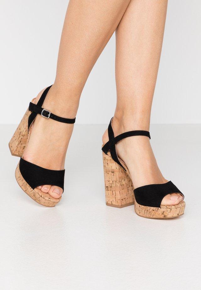 CARRY - Sandály na vysokém podpatku - black