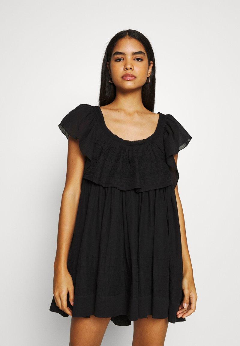 Free People - HAILEY MINI DRESS - Day dress - black