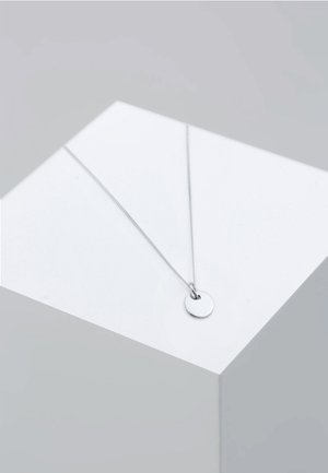 PLATE CIRCLE BASIC - Necklace - silver