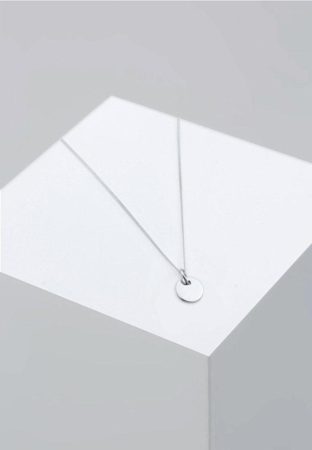 PLATE CIRCLE BASIC - Ketting - silver
