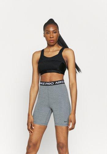 ALPHA BRA - High support sports bra - black/dk smoke grey