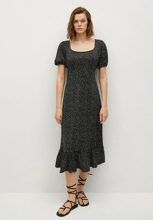 ROBE POIS VOLANT - Day dress - noir