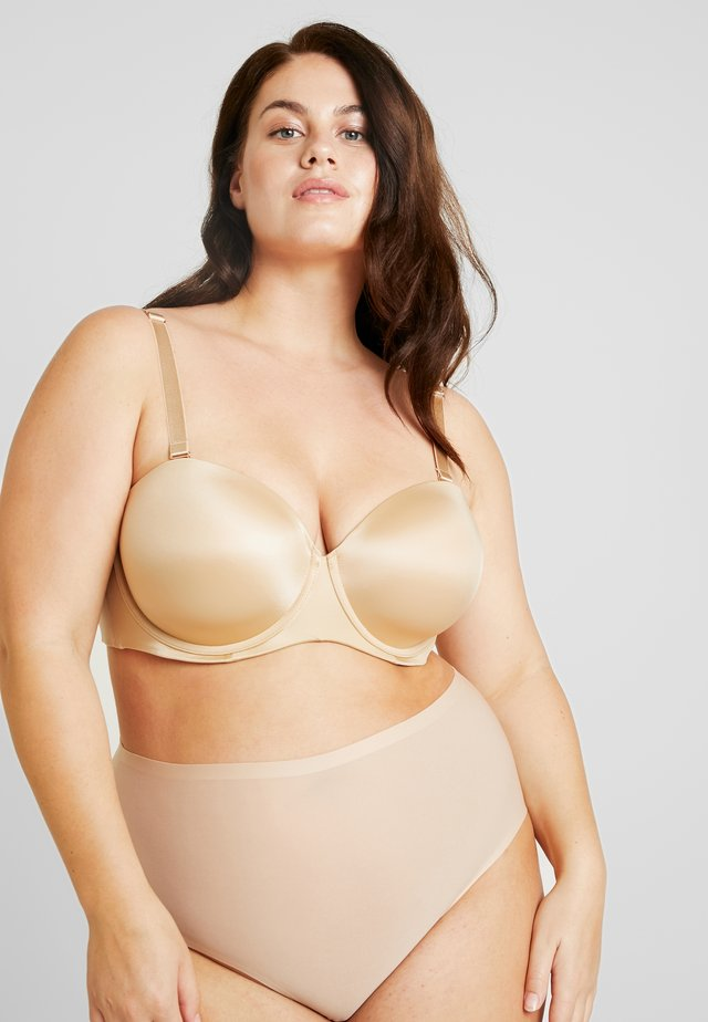 PLUS STRAPLESS BRA - trägerloser/variabler BH - honey