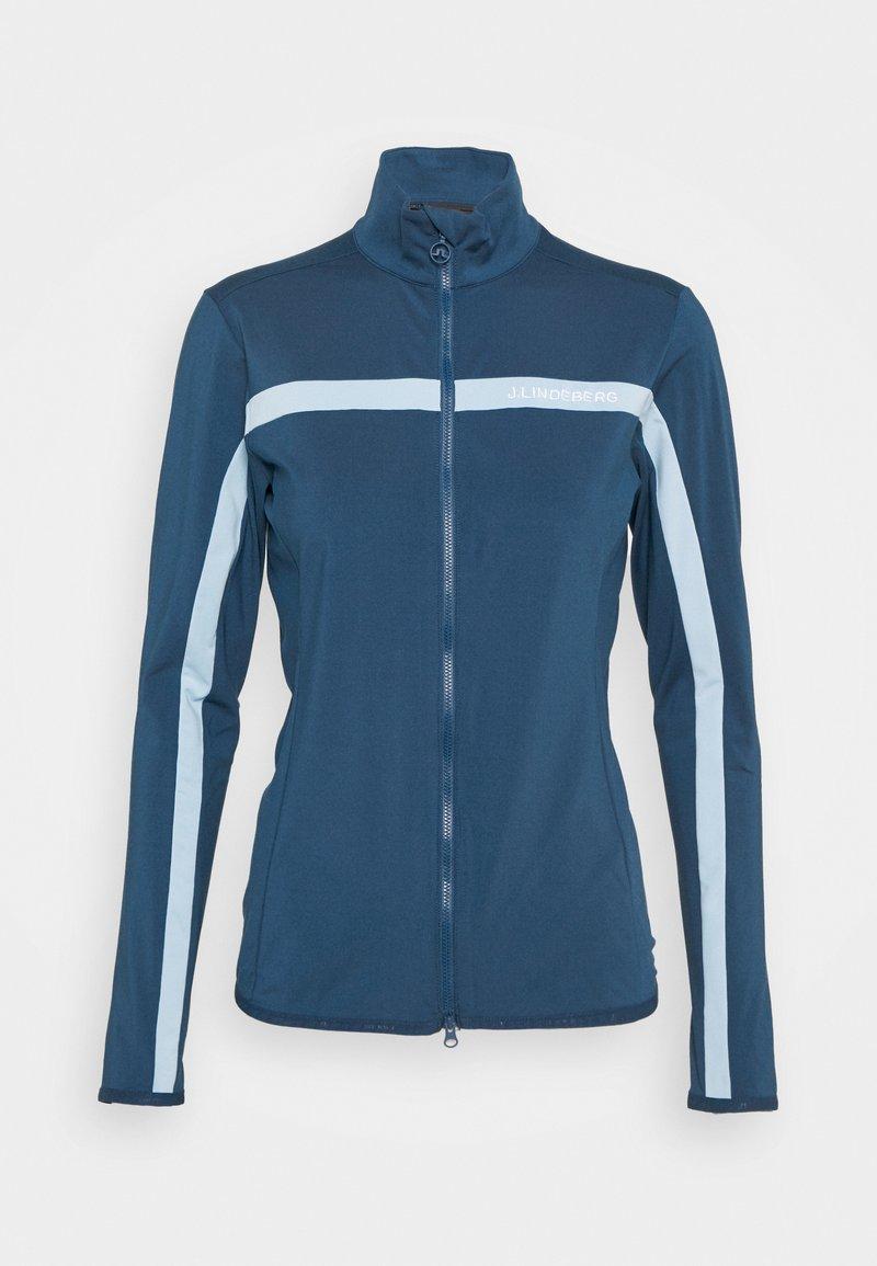 J.LINDEBERG - SEASONAL JANICE MID LAYER - Zip-up hoodie - midnight blue
