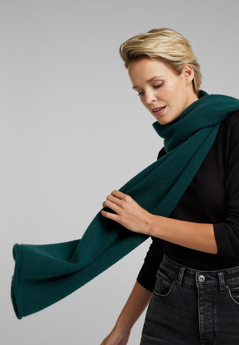 edc by Esprit - AUS GARN-MIX - Scarf - dark teal green