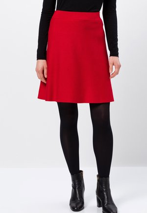 A-line skirt - red flame