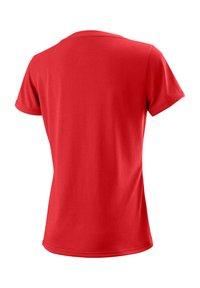 """Wilson - WILSON DAMEN TENNISSHIRT """"UWII SCRIPT TECH TEE"""" KURZARM - Print T-shirt - red - 1"""